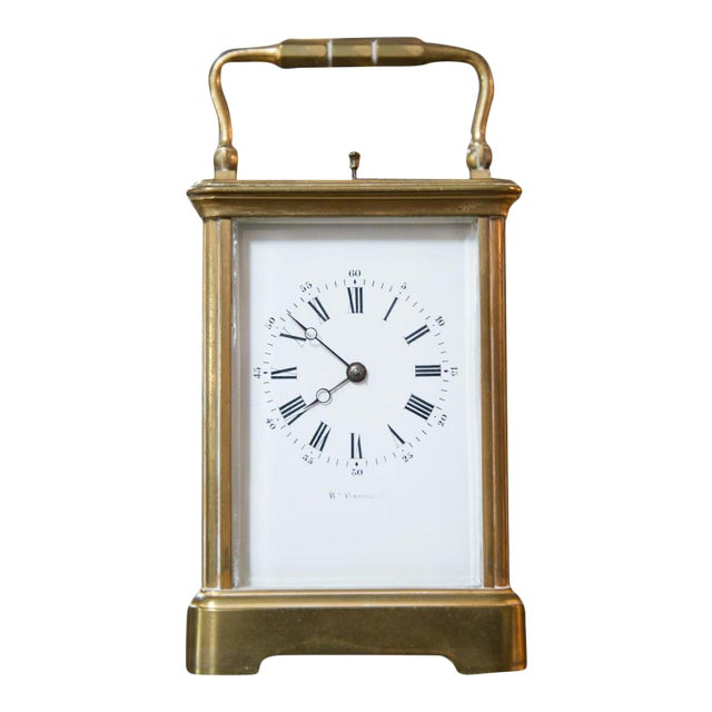 Renard Roitel French Brass Carriage Clock For Sale