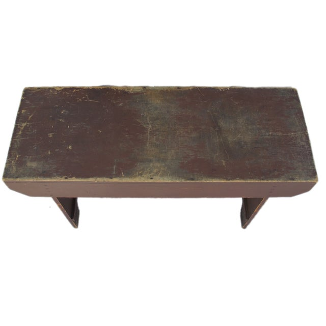 19th Century Antique Red Bench - Image 4 of 11