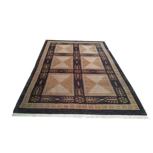 Aubusson Design Tibetan Handmade Knotted Rug - 5′5″ X 8′5″ - Size Cat. 5x8 6x9 - Image 2 of 4