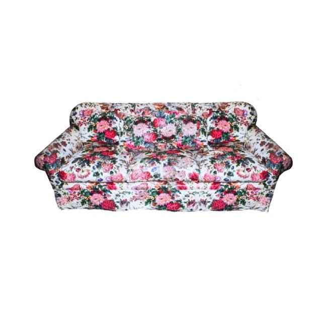 English Traditional Final Markdown Brunschwig & Fils Postmodern Floral Sofa For Sale - Image 3 of 3