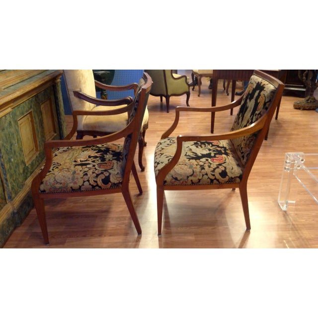 Figurative Pair of Italian Neoclassic Armchairs For Sale - Image 3 of 13
