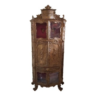 Venetian Rococo Curiosity Cabinet For Sale