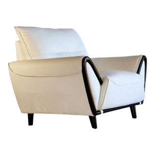Pasargad DC Charlotte Pu Leather Armchair For Sale