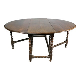 Large Jacobean Oak Gateleg Table For Sale