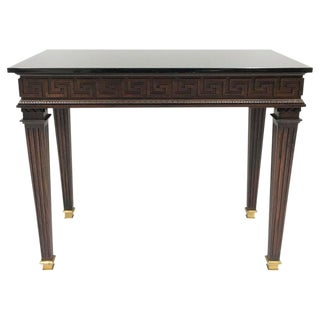 Neoclassical Greek Key Console Table Attributed to Maison Jansen For Sale
