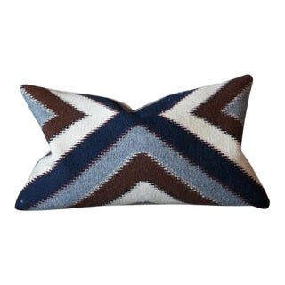 Chevron Vintage Rug Pillow Cover For Sale