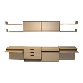 Scandinavian Modern White Vitsoe 606 Universal Shelving System For Sale