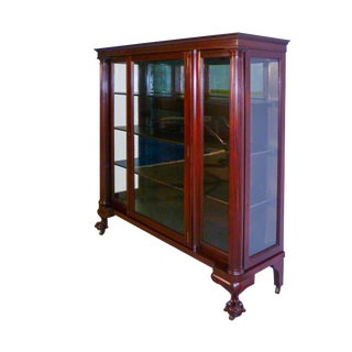 Early 19th Century Antique Mahogany China Cabinet For Sale