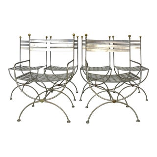 1980s Vintage Savonarola Style Dining Chairs- Set of 6 For Sale