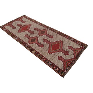 Vintage Turkish Hand Knotted Runner Rug - 2′10″ X 7′1″ For Sale