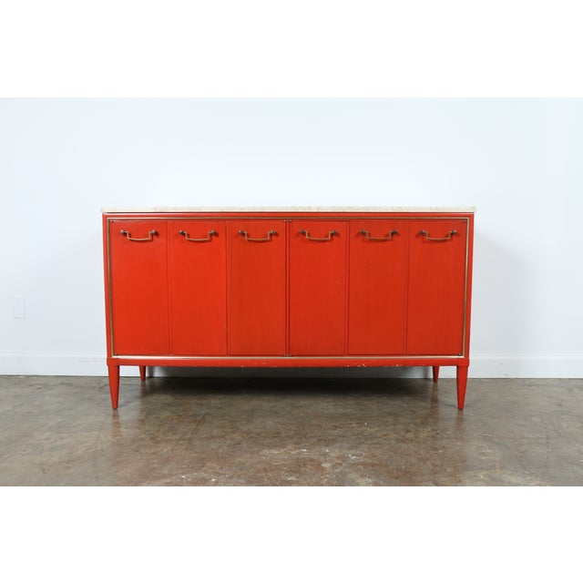 Vintage Orange Buffet - Image 2 of 11