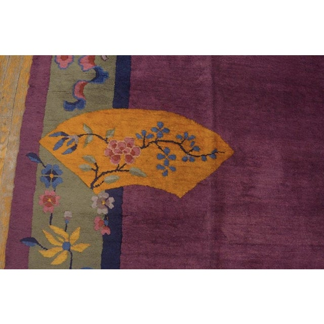 """Textile Antique Chinese Art Deco Rugs 9'2"""" X 11'8"""" For Sale - Image 7 of 11"""