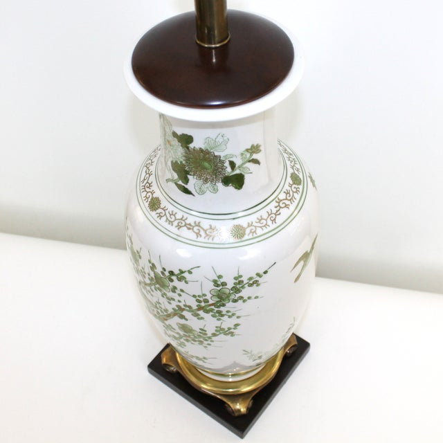 Overscale Vintage Japanese Porcelain Lamp - Image 2 of 10