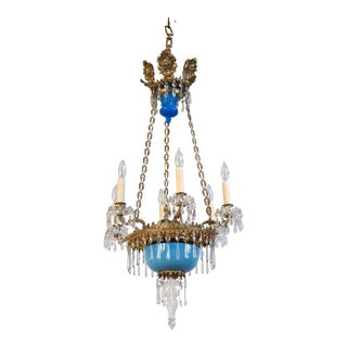Late 19th Century Antique French Victorian Chandelier For Sale