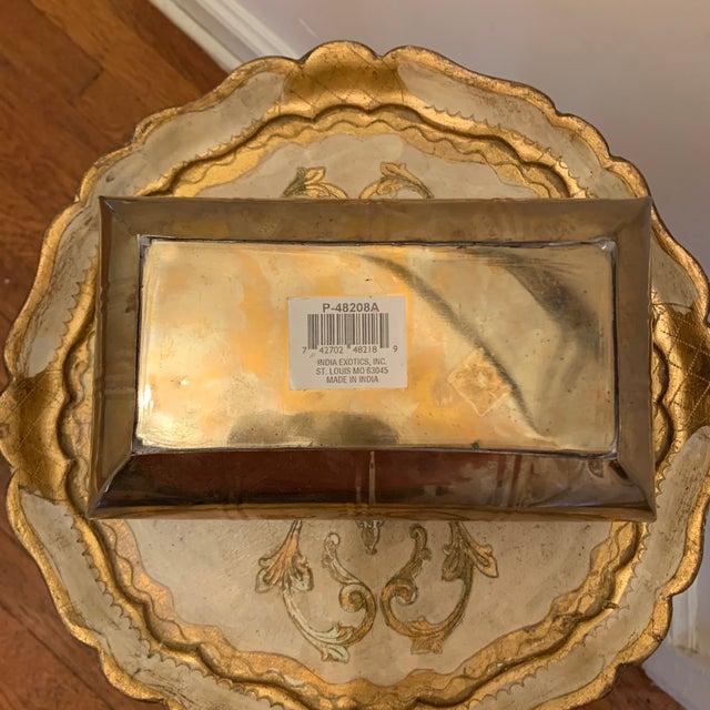 Vintage Brass Rectangular Planter For Sale - Image 4 of 6