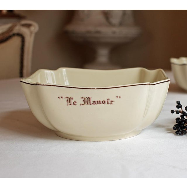 """Vintage French """"Le Manoir"""" Porcelain Serving Bowl - Image 2 of 5"""