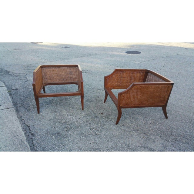 1950s Danish Modern Teak Saber Leg Low Slung Lounge Chairs - a Pair For Sale In Miami - Image 6 of 11