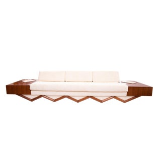 Adrian Pearsall Sculpted Walnut Sofa For Sale