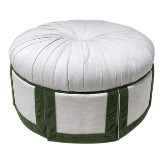 Century Furniture Margaret Ottoman For Sale