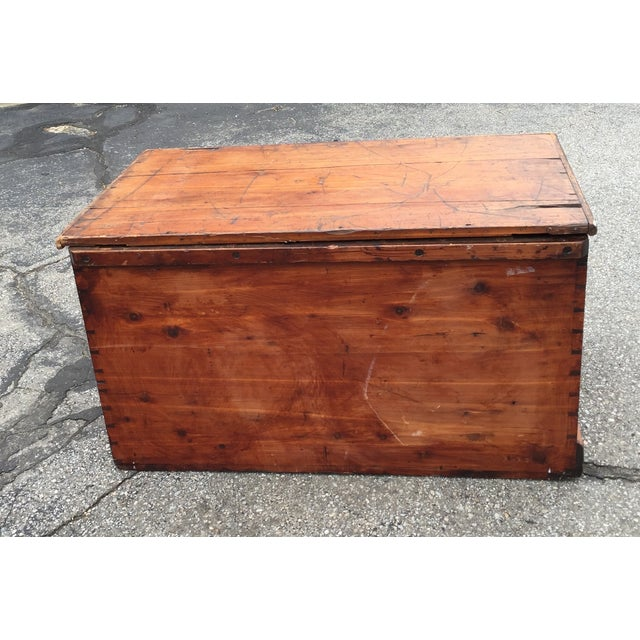 Flat Top Trunk With Handles - Image 2 of 5