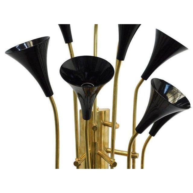 Fabio Ltd Pair of Black Trumpets Sconces by Fabio Ltd For Sale - Image 4 of 6