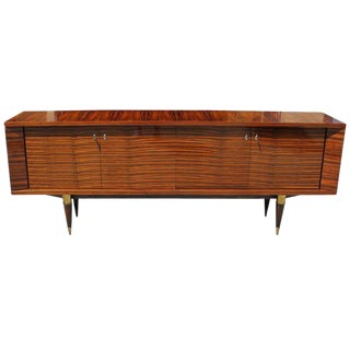 Beautiful French Art Deco Exotic Macassar Bony Sideboard /Buffet Circa 1940s