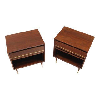 20th Century Danish Modern One Drawer Night Stands - a Pair For Sale