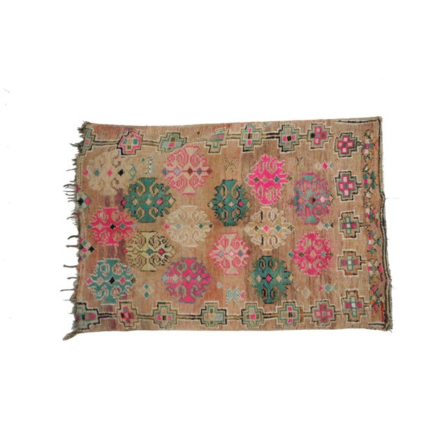 Boho Chic 1970s Moroccan Boujad Rug - 4'7 X 6'5 For Sale - Image 3 of 6