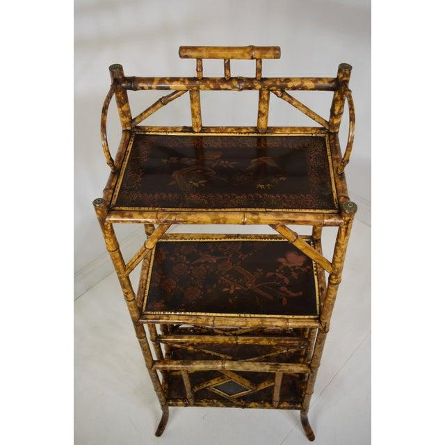 "19th-Century English Book Shelf/Magazine Rack. Great looking piece. Beautiful ""faux tortoise"" shell finish. Original..."