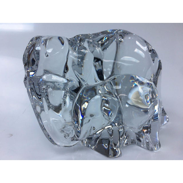 Crystal Baccarat Crystal Elephant With Baby For Sale - Image 7 of 7