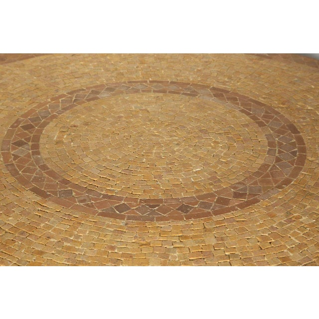 Moroccan Marble and Stone Mosaic Table Indoor or Outdoor For Sale In Los Angeles - Image 6 of 10