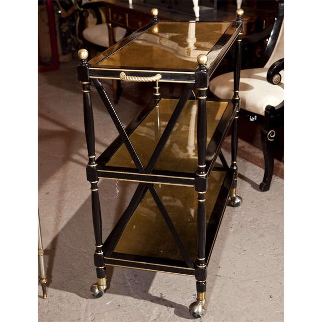 Maison Jansen Three-Tier Serving Cart - Image 6 of 8