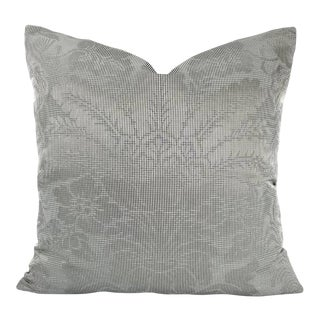 F. Schumacher Colette Charcoal Pillow Cover For Sale