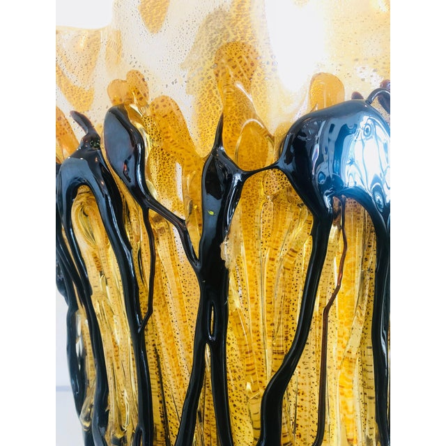 Glass Mid-Century Murano Glass Vase For Sale - Image 7 of 10