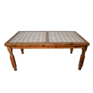 1950's Mexican Ceramic Tile Dining Table For Sale