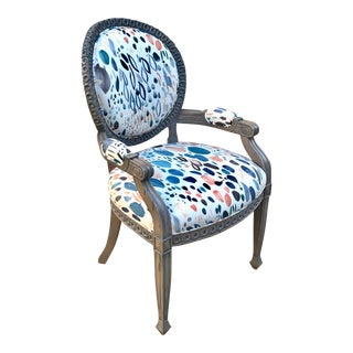Louis XVI Grey Chair For Sale