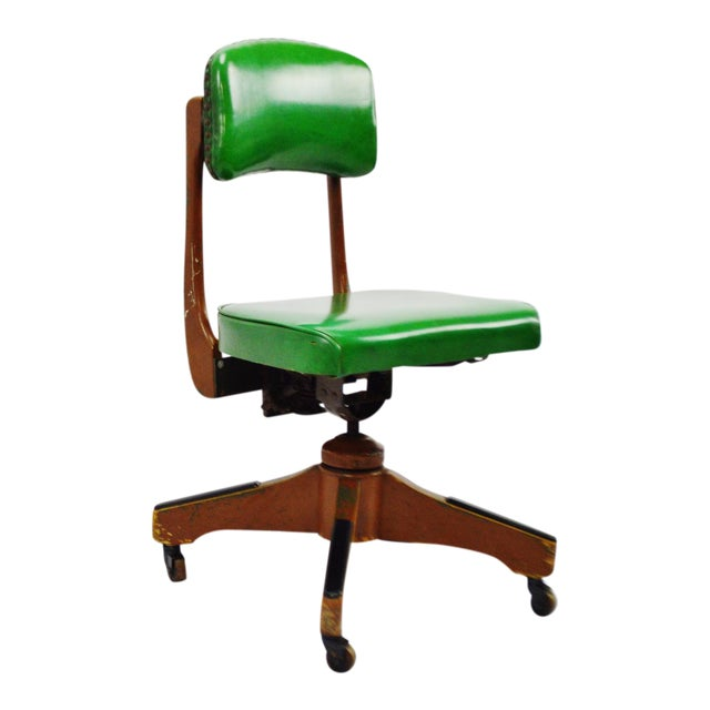 Taylor Chair Company Mid-Century Adjustable Desk Chair For Sale