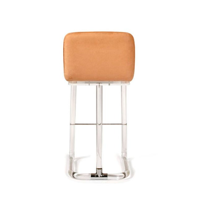 1970s 1970s Leon Frost for Lion in Frost Inc. Lucite Bar Stools - Set of 5 For Sale - Image 5 of 10