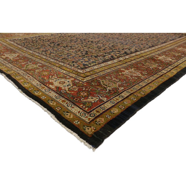 Distressed Antique Persian Sultanabad Palace Rug with Industrial Artisan Style 10'02 X 16'04. This hand knotted wool...