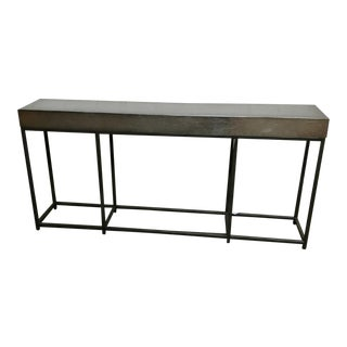 Vanguard Furniture Zoe Console Table With Silver Leafed Wood Top For Sale
