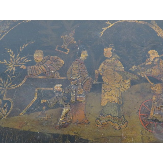 Carved Chinoiserie Decorated Coffee Table - Image 6 of 10