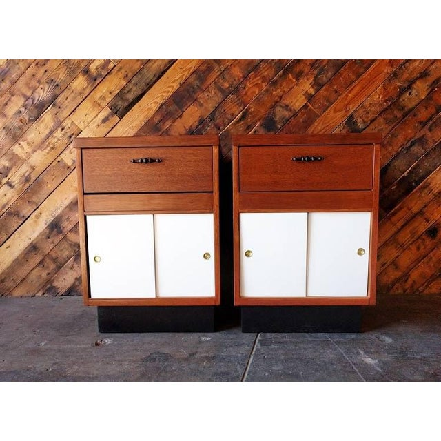 1950's Refinished Bedside Tables - A Pair - Image 2 of 7