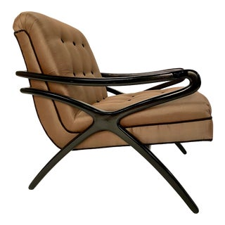 Mid-Century Sculptural Lounge Chair For Sale