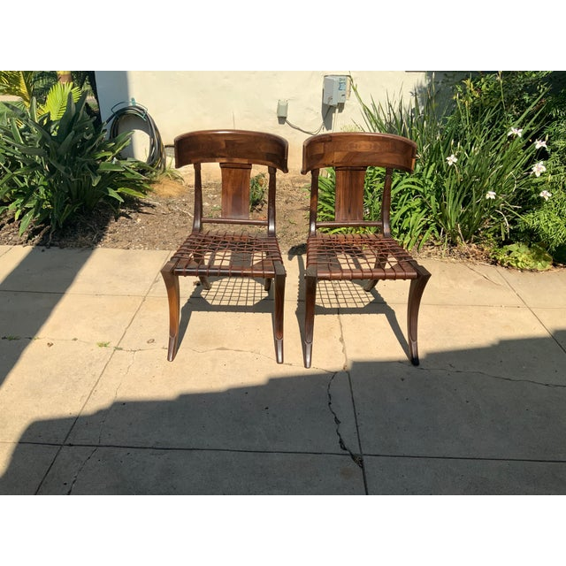 Klismos Walnut Chairs - a Pair For Sale - Image 10 of 10