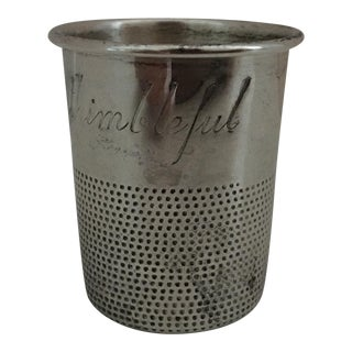 "Towle Sterling ""Just a Thimbleful"" Shot Glass For Sale"