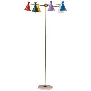 Midcentury Italian Multi Arm Floor Lamp For Sale