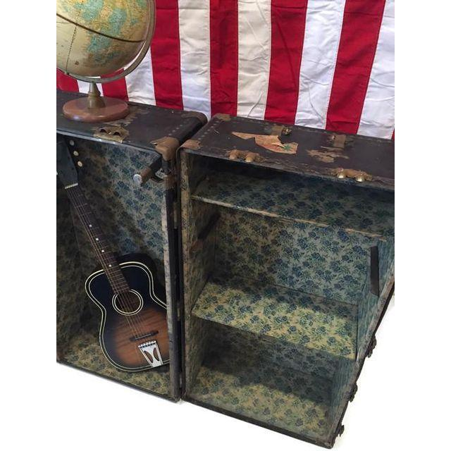 Vintage Steamer Trunk Bookcase Chest - Image 3 of 8