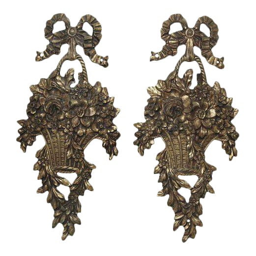 Louis XVI Basket Appliques - A Pair For Sale