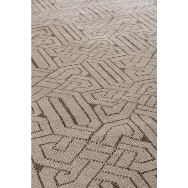 Not Yet Made - Made To Order Cambrai Flatweave Wool Ivory/Gray Rug - 9'x12' For Sale - Image 5 of 7