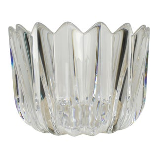 Vintage Orrefors Sweden Crystal Bowl For Sale